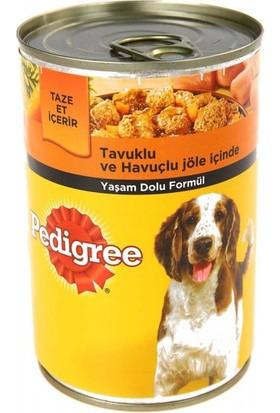 Pedigree Tavuklu ve Havuçlu Konserve Yetişkin Köpek Maması 400 gr 24 Adet