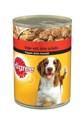Pedigree Sığır Etli Biftekli Konserve Yetişkin Köpek Maması 400 gr 24 Adet