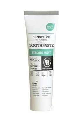 Urtekram Organik Yoğun Nane Özlü Hassas Diş Macunu - Florür İçermez - Bıo 9 Etkili 75ml