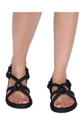 Nomadic Republic Borabora Siyah Halat İp Sandalet