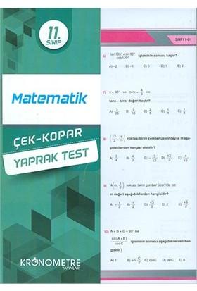 Kronometre 11. Sınıf Matematik Yaprak Test