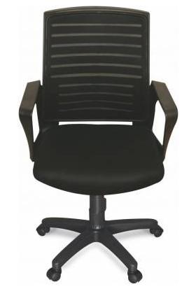 Ofis City Fileli Personel Koltuğu Sekreter Koltuğu Siyah