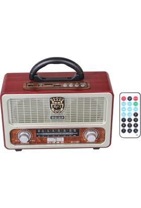Meier M-111Bt-Şarjlı Nostaljik Usb/Sd/Mp3 Bluetooth Fm Radyo