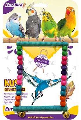 Eurobird Kuş Oyuncağı Boncuklu Dikdörtgen Salıncak (ky14)