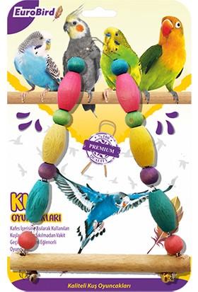 Eurobird Kuş Oyuncağı Renkli Boncuklu Üçgen Salıncak (ky17)