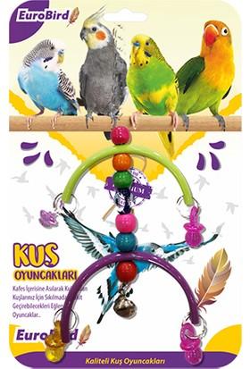 Eurobird Kuş Oyuncağı Renkli Boncuklu Yarım Ay (ky47)