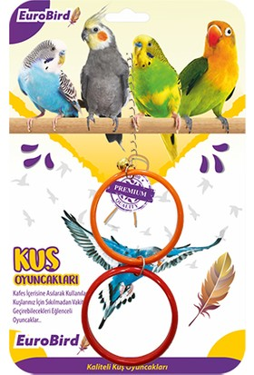 Eurobird Kuş Oyuncağı Renkli İkili Halka (ky65)