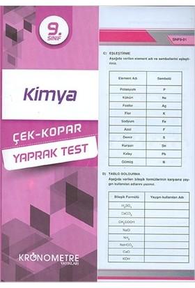 Kronometre 9. Sınıf Kimya Yaprak Test