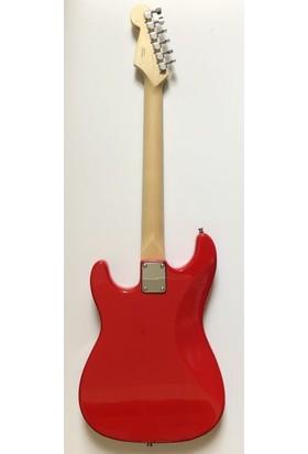 Squier MM Strat Sabit Köprü Kırmızı Elektro Gitar