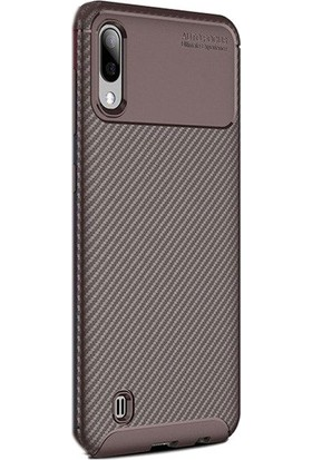 Gpack Samsung Galaxy A10 Kılıf Negro Karbon Dizayn Silikon