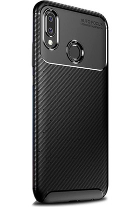 Gpack Samsung Galaxy A30 Kılıf Negro Karbon Dizayn Silikon
