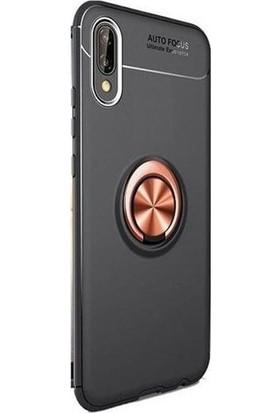 Gpack Samsung Galaxy A10 Kılıf Ravel Yüzüklü Mıknatıslı Silikon