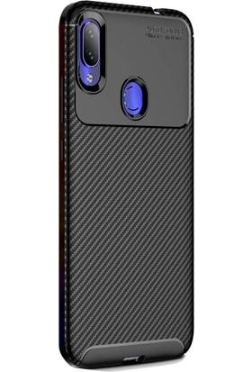 Gpack Xiaomi RedMi Note 7 Kılıf Negro Karbon Dizayn Silikon+Nano Glass