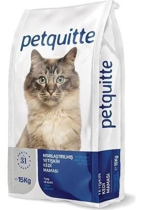 Petquitte Etli Kuru Kısırlaştırılmış Yetişkin Kedi Maması 15 kg