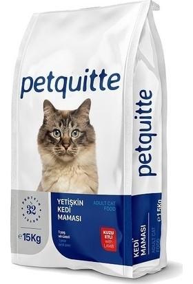 Petquitte Kuzu Etli Kuru Yetişkin Kedi Maması 15 kg