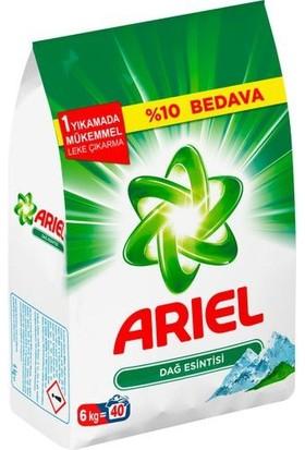 Ariel Matik Toz Deterjan 6 kg ( Dağ Esintisi - Beyazlar İçin )