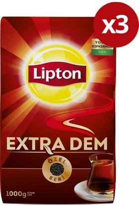 Lipton Extra Dem Dökme Çay 1000gr X 3' lü