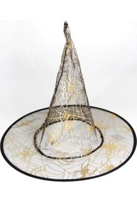 Dekorsende Cadı Şapkası Altın Siyah 37 Cm