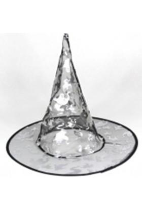 Dekorsende Cadı Şapkası Gümüş 37 Cm