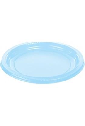 Dekorsende Plastik Tabak Mavi 22 Cm 25 Li