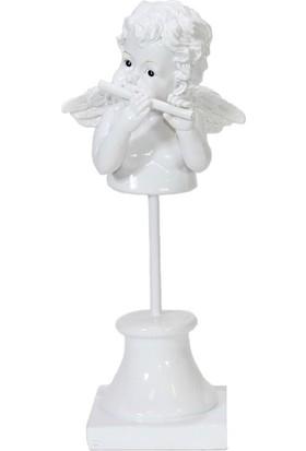 Dekorsende Flüt Çalan Melek Biblo