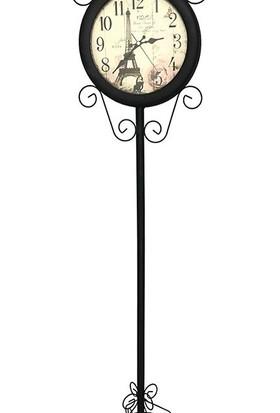 Favori Avize Ayaklı Metal Saat 138 cm - Siyah