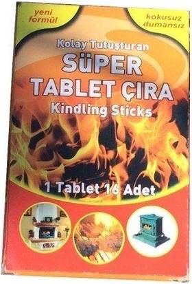 Nazar Süper Tablet Çıra 1 Tablet 16 Adet - Mangal Soba Tutuşturucu