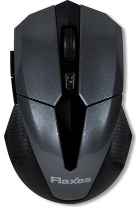 Flaxes FLX-920S Kablosuz Wireless 2.4GHz 1600 DPI Siyah Gri Mouse