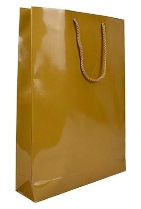 Party Marty Selofanlı Altın Karton Çanta 26X38