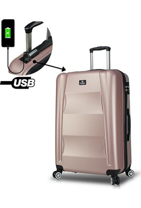 707bba34855ee My Valice Smart Bag Exclusive Usb Şarj Girişli Büyük Boy Valiz Rose ...