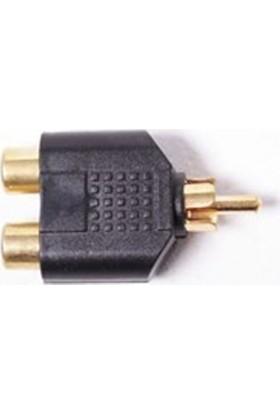 Zoomex SS-1827 2 RCA (F) RCA (M) Dönüştürücü Adaptör