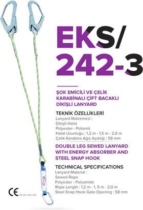 EKS Şok Emicili Çift Bacaklı Lanyard 1.2 m