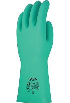 Faba NF 38.33 Kimyasallara Dirençli Yeşil Nitril Eldiven 33 Cm