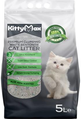 KittyMax Bentonit İnce Taneli Aloe Vera Kokulu Kedi Kumu 5 lt
