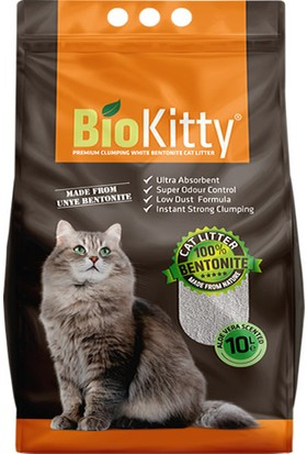 BioKitty Bentonit Kalın Taneli Aloe Vera Kokulu Kedi Kumu 10 lt