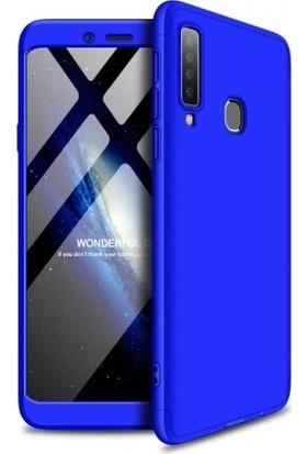 Jopus Samsung Galaxy A9 2018 Kılıf 3 Parça 360 Tam Koruma Ays Kapak - Mavi