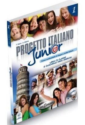 Progetto Italiano Junior 1 (Ders Kitabı Ve Çalışma Kitabı +Cd) İtalyanca Temel Seviye - T. Marin