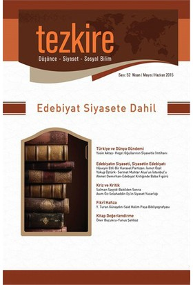 Tezkire Sayı: 52 Nisan-Mayıs-Haziran-Kolektif