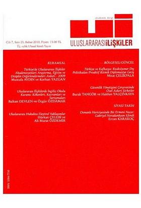 Uluslararası İlişkiler Dergisi Sayı: 25