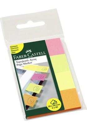 Faber-Castell Yapışkan Ayraç 20x50 mm 4x40 Sayfa (5689567039)
