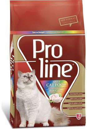 Proline Cat Chicken Multi Colour Renkli Taneli Yetişkin Kedi Maması 1,5 Kg