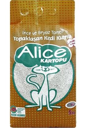 Alice Kartopu İnce Taneli Topaklaşan Pudra Kokulu Kedi Kumu 5 Kg