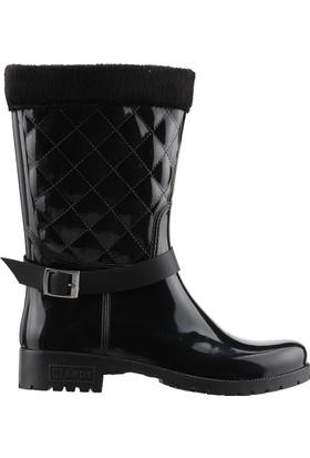 62ce627fcf51b Ayakland Arısan Günlük Kadın Yağmur Kar Çizmesi Siyah ...