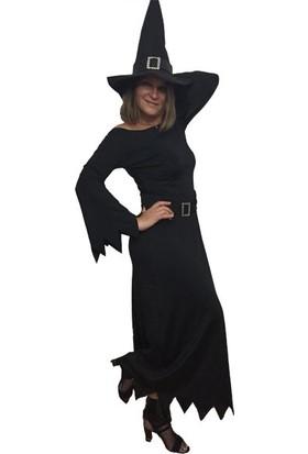 Annee Bakk Uzun Siyah Cadı Kostümü