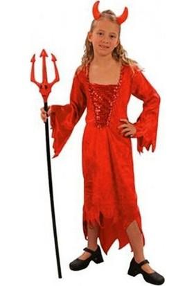 Annee Bakk Şeytan Kız Çocuk Kostümü