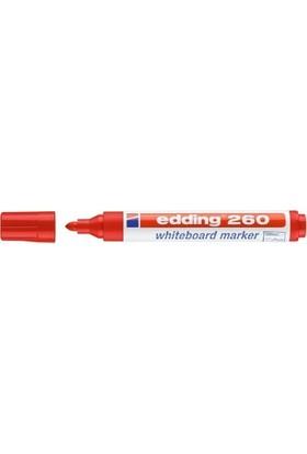 Edding 260 Beyaz Tahta Kalemi 10'lu Paket Kırmızı