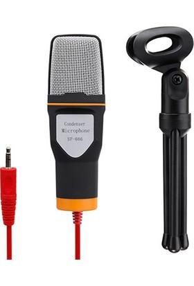 Kondenser 3.5 mm Stereo Kablolu Bilgisayar İçin Mikrofon + Tripod