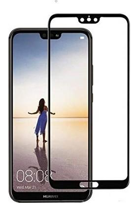 Happyshop Huawei P Smart Full Kaplayan Fiber Nano Ekran Koruyucu Siyah