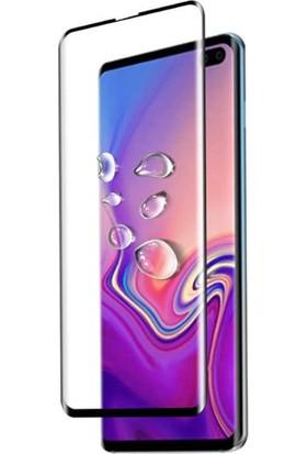 Happyshop Samsung Galaxy S10 Full Kaplayan Süper Pet Ekran Koruyucu Siyah