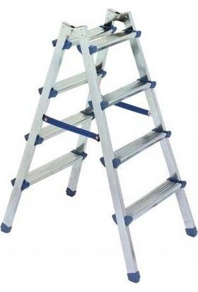 Asvera Çift Çıkışlı Profil Merdiven 4+4 Basamaklı